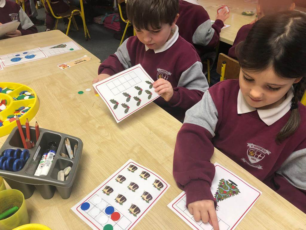 Christmas Maths in Senior Infants