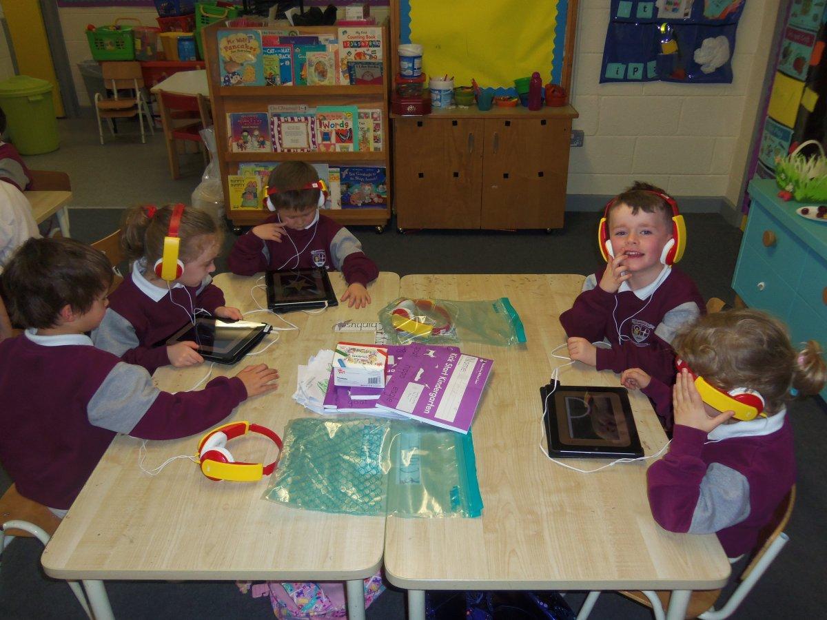 iPads in Junior Infants