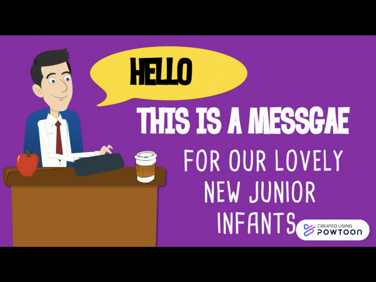A Message for Junior Infants