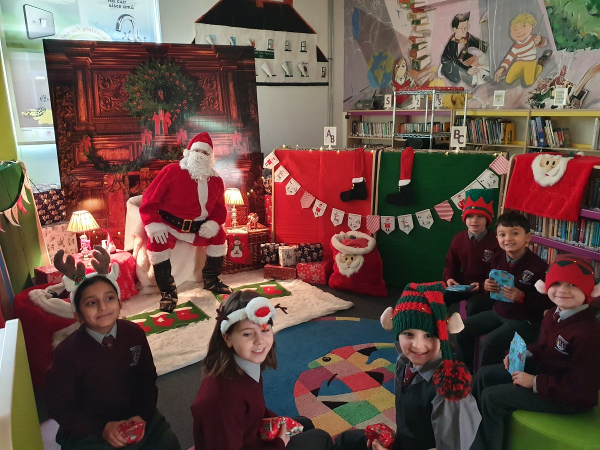 Santa visit to the odd classes