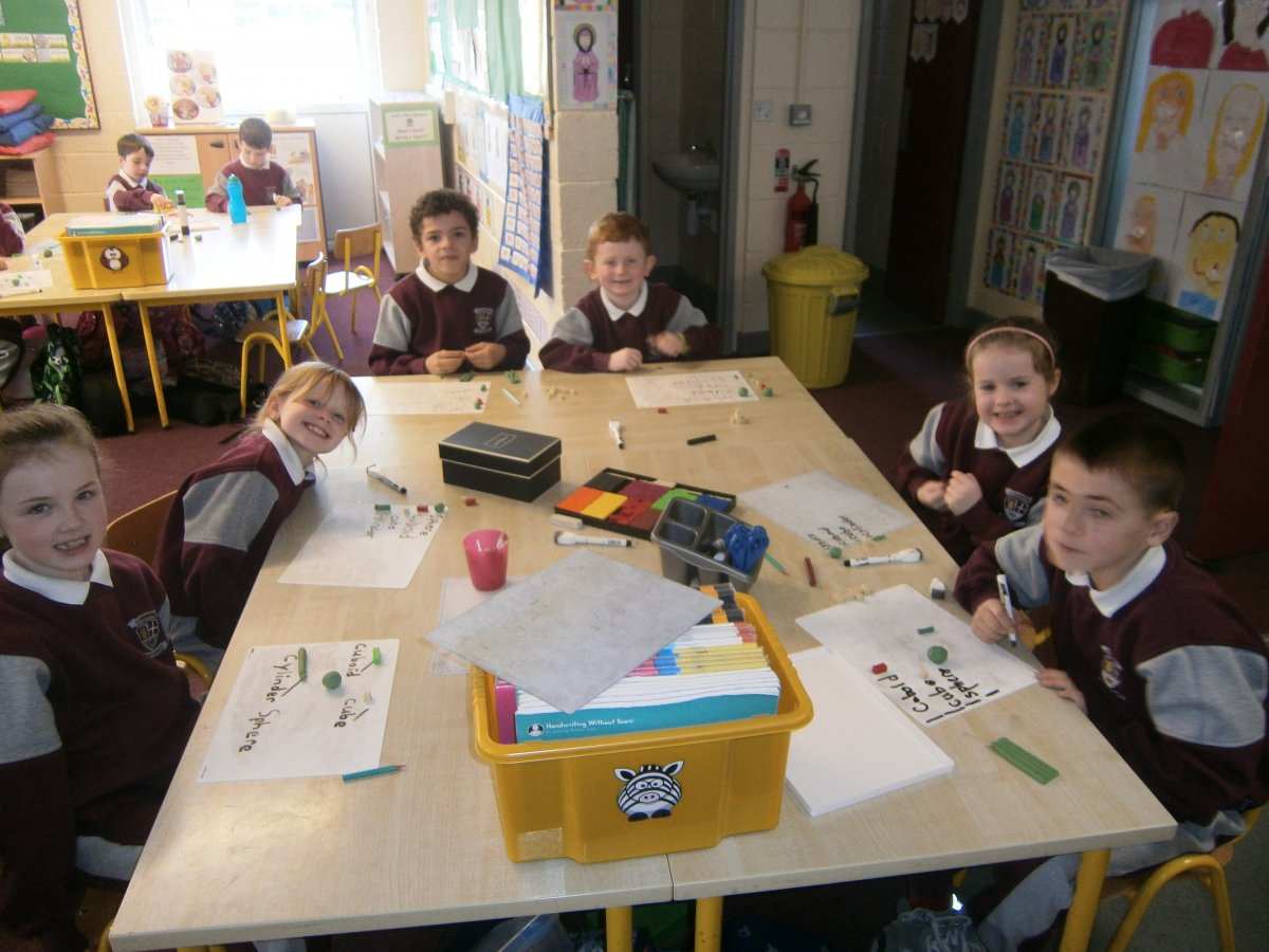 Making 3d shapes in 1st Class