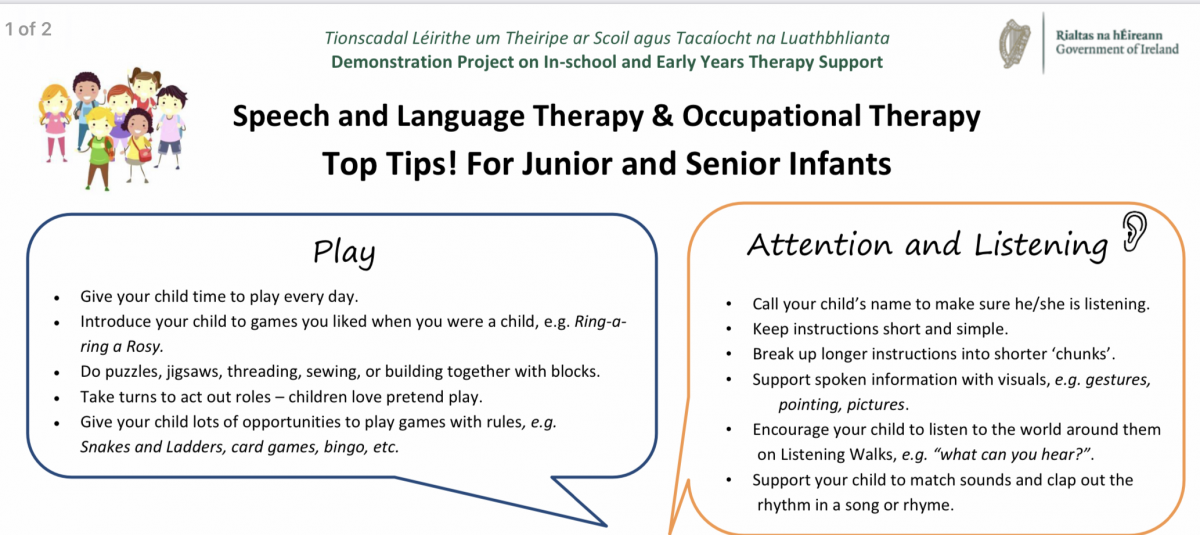 Speech and Language Top Tips