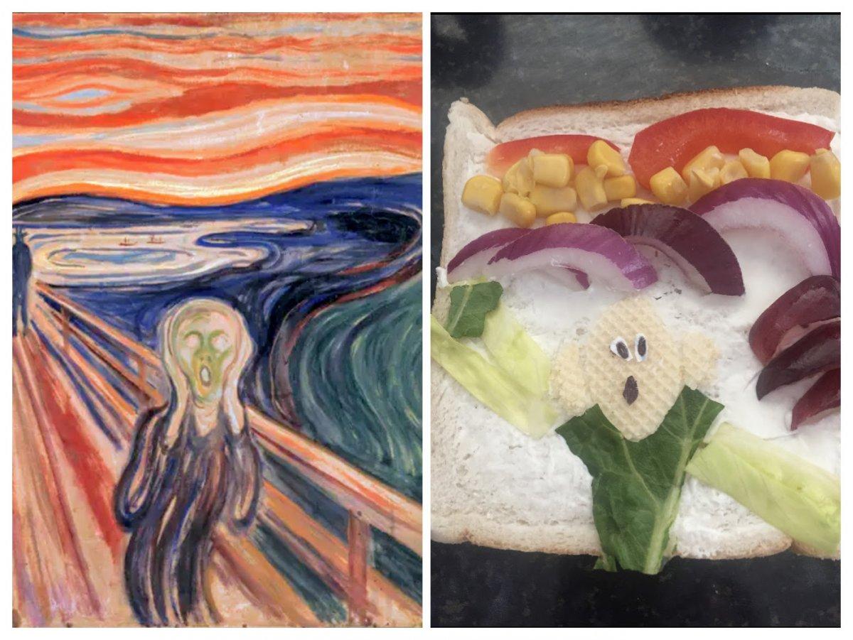 5th class: art masterpiece recreations