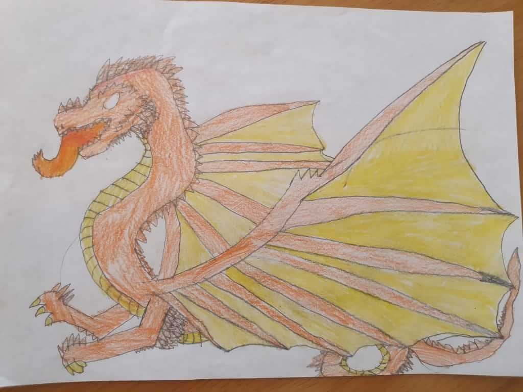 A drawing of a dragon by Ruth