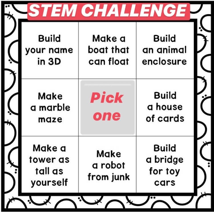 STEM challenges in 2nd class