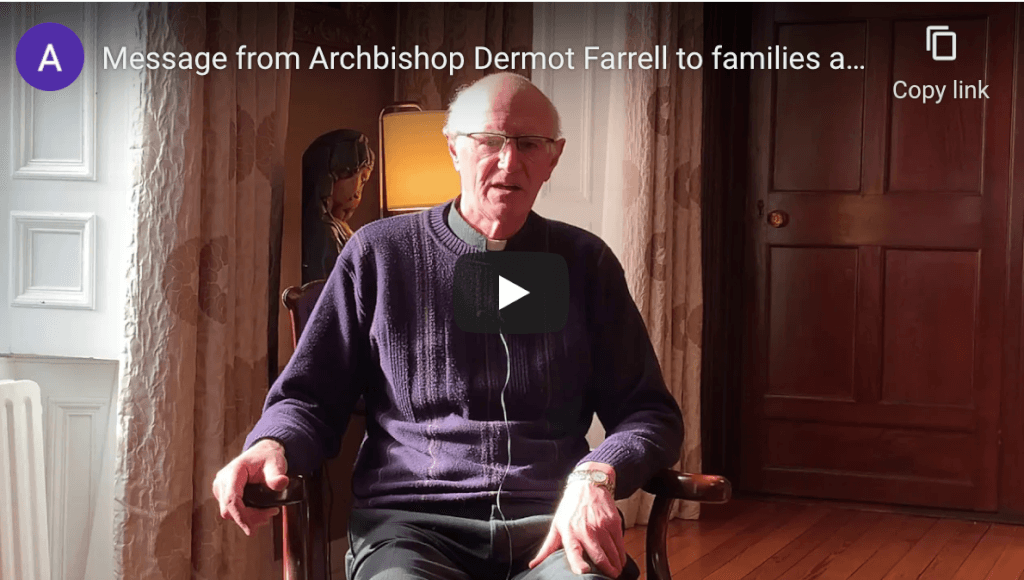 Message from Archbishop Farrell