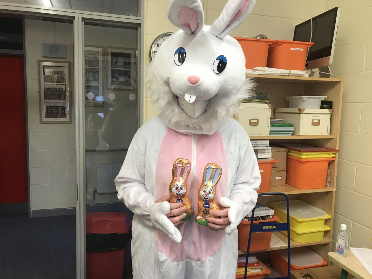 The Easter Bunny Visits Brigid's