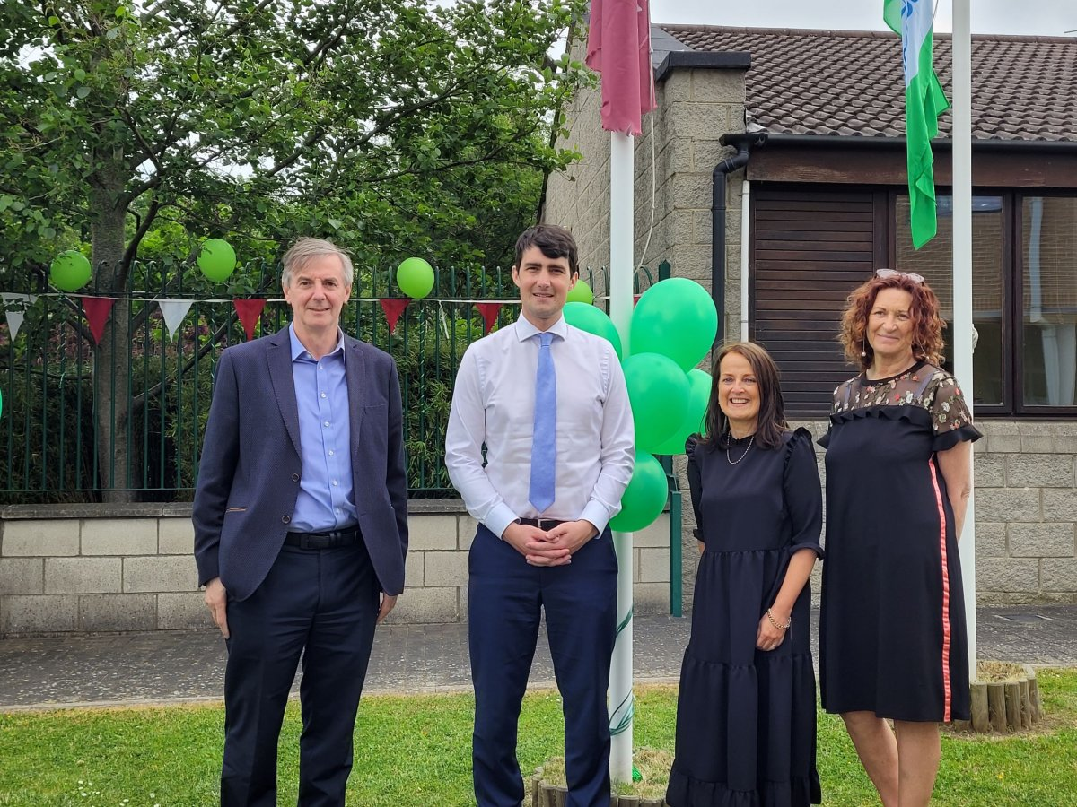 Raising our Green School Flag                                                                    @GreenSchoolsIre