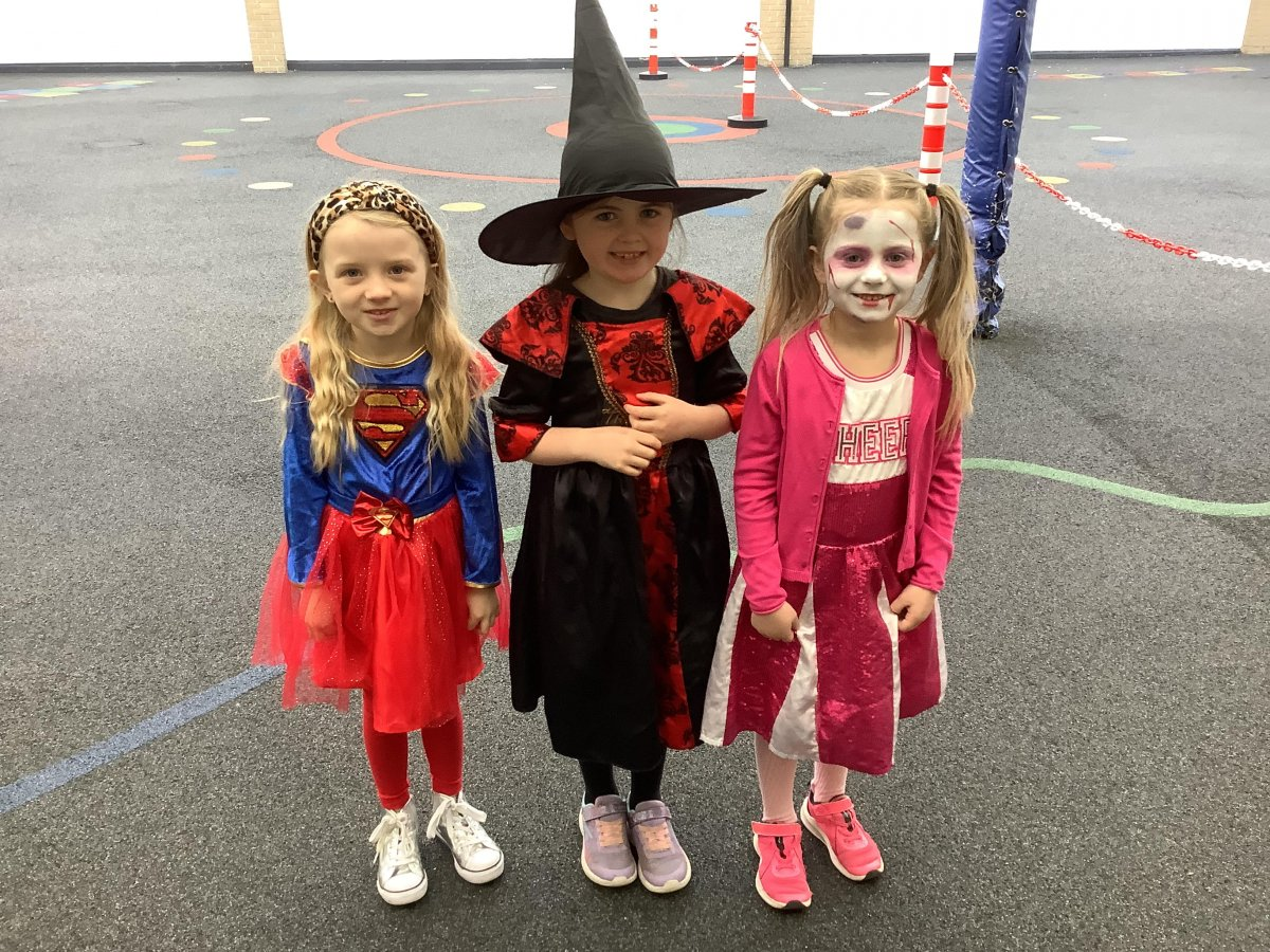 A spooky morning in the Infant building………..                                          #Halloween